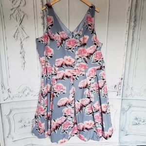 City Chic Floral Dress Size XXL/24W